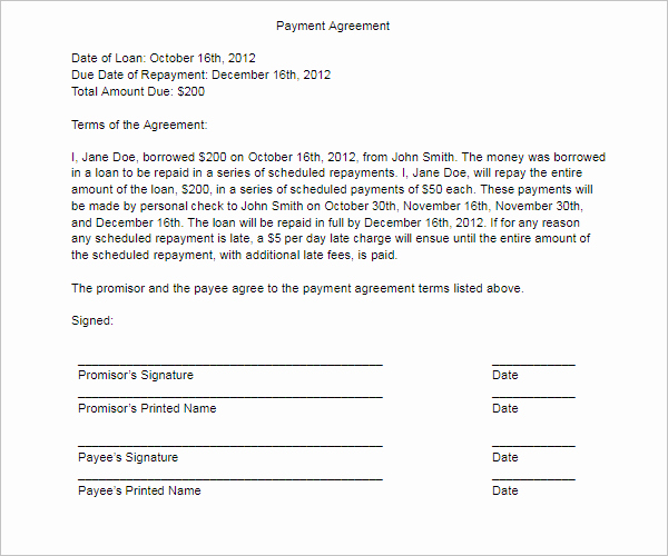 Free Payment Agreement Template Beautiful 21 Free Payment Agreement Templates Pdf Word Doc formats