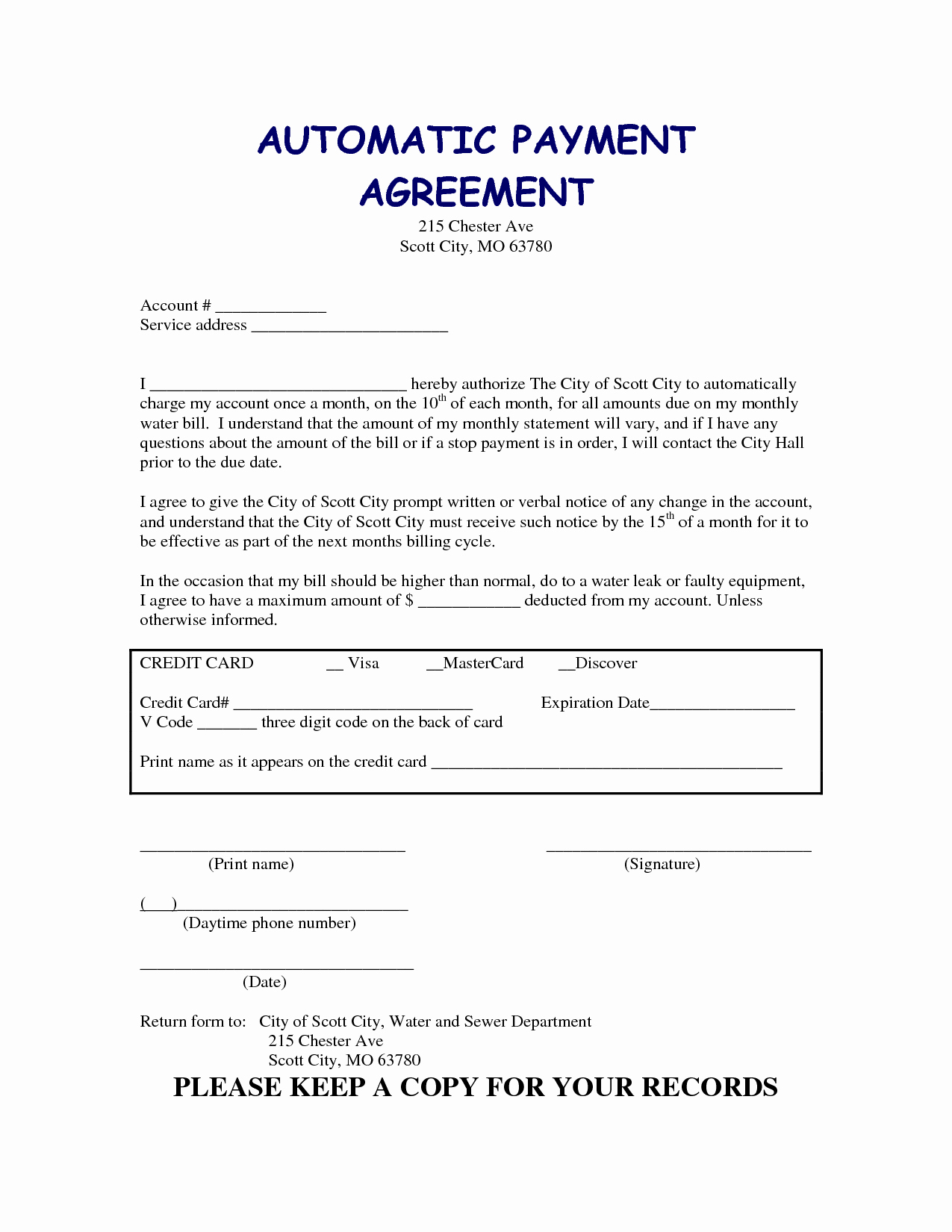Free Payment Agreement Template Fresh 13 Best Of Agreement to Pay for Services Medical