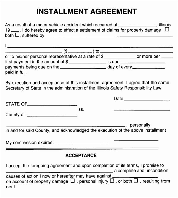 Free Payment Agreement Template New Installment Agreement 7 Free Pdf Download