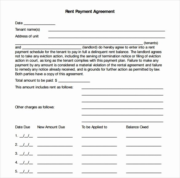 Free Payment Agreement Template Unique Payment Plan Agreement Templates Word Excel Samples