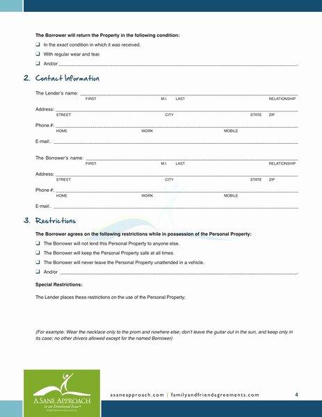 Free Personal Loan Agreement Template Elegant Free Printable Personal Loan Agreement form Generic