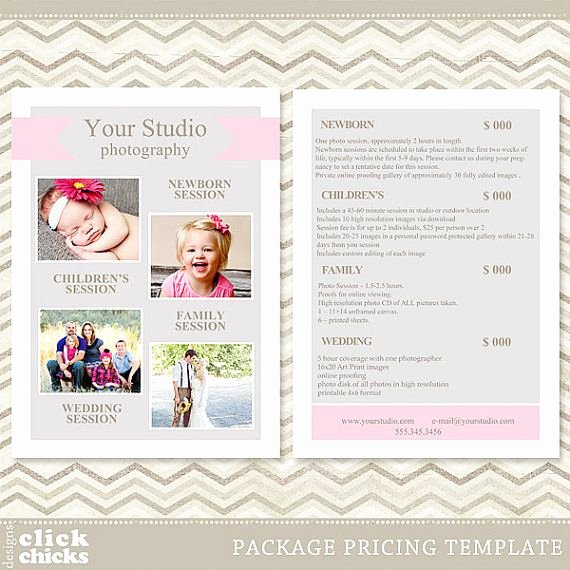 Free Photography Price List Template Beautiful Graphy Package Pricing List Template Price List