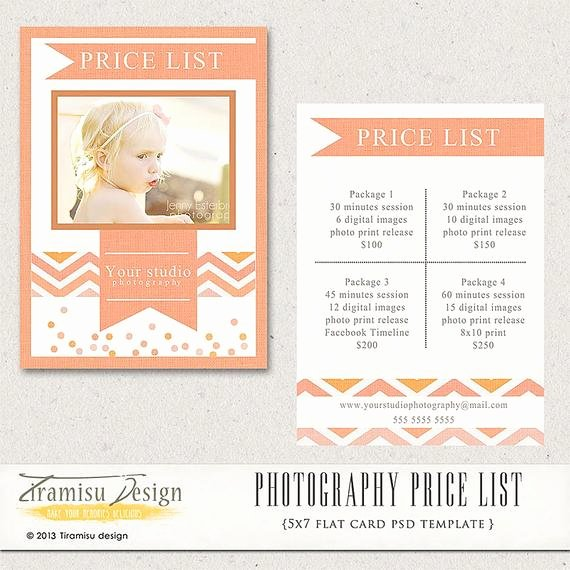Free Photography Price List Template Beautiful Graphy Price List Graphy Pricing Guide Price
