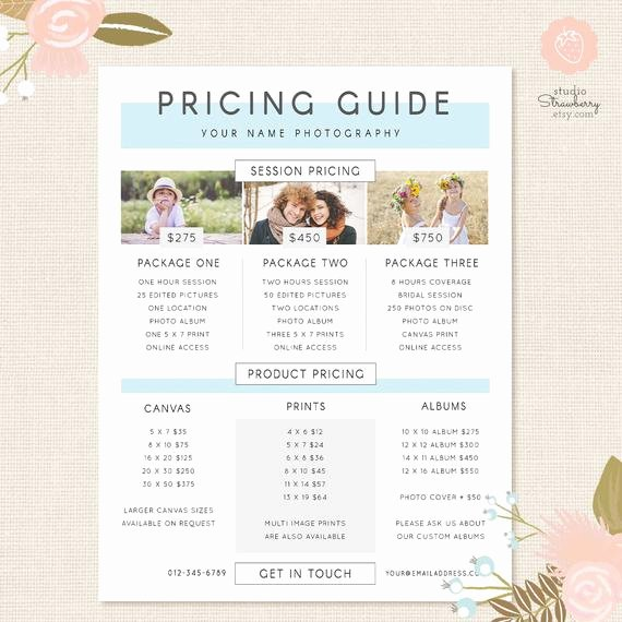 Free Photography Price List Template Beautiful Graphy Pricing Template Pricing Guide Template Pricing