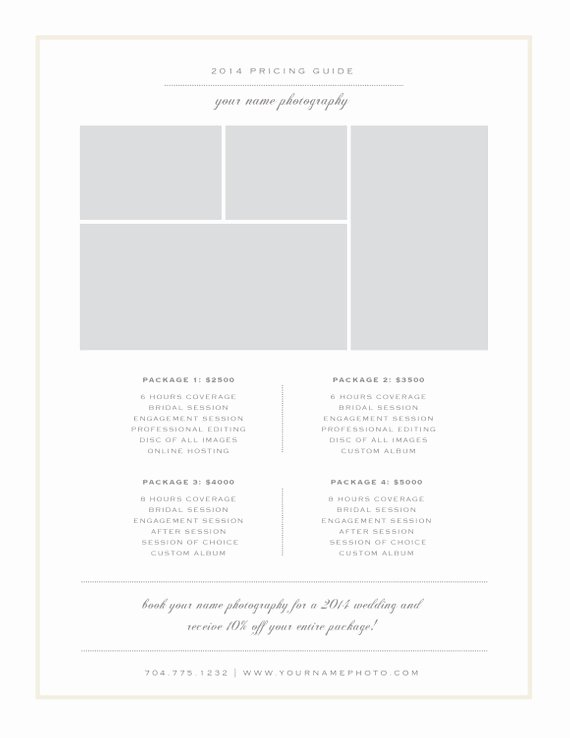 Free Photography Price List Template Best Of Graphy Price List Template Pricing Sheet Guide