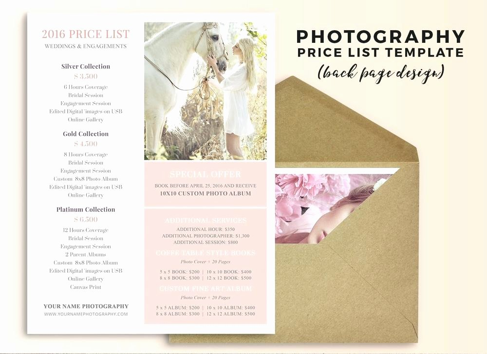 Free Photography Price List Template Best Of Wedding Photographer Price List Template – Traguspiercingfo