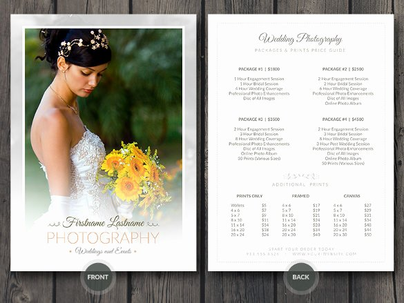 Free Photography Price List Template Fresh 40 Psd Wedding Templates Free Psd format Download