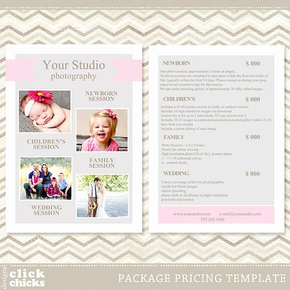 Free Photography Price List Template Fresh Graphy Package Pricing List Template Price List Price