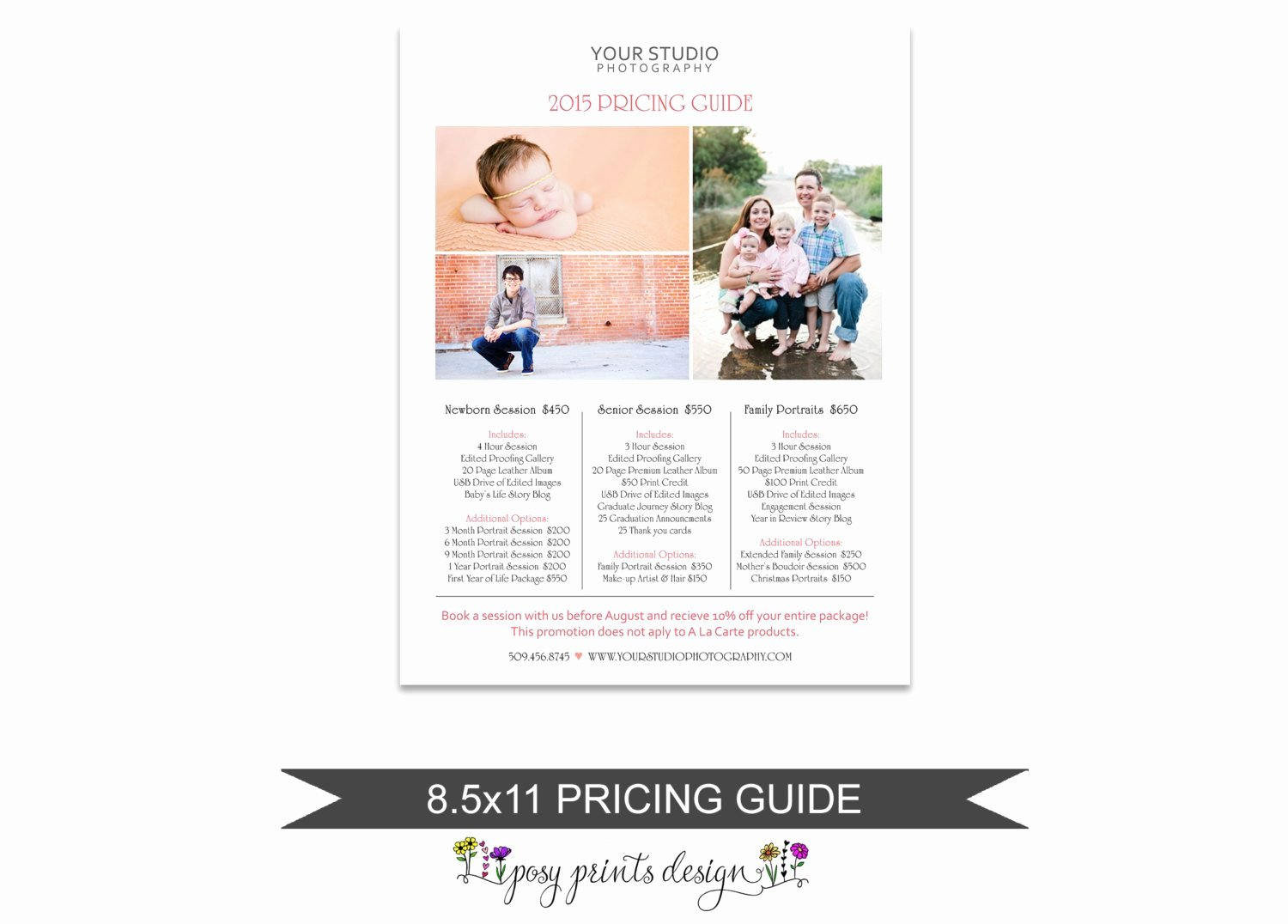 Free Photography Price List Template Lovely Grapher Price List Portrait Pricing Guide Template