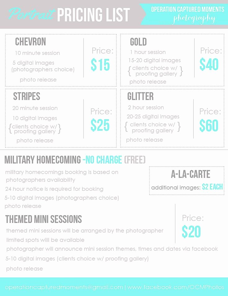 Free Photography Price List Template New Best 25 Graphy Price List Ideas On Pinterest