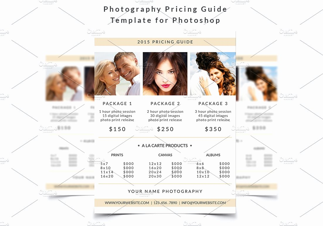 Free Photography Price List Template New Graphy Pricing Guide Template Flyer Templates