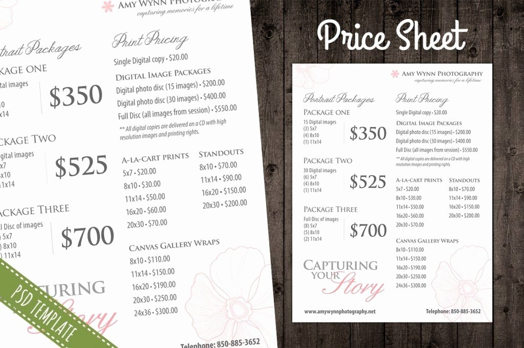 Free Photography Price List Template New Price List Brochure Template Csoforumfo