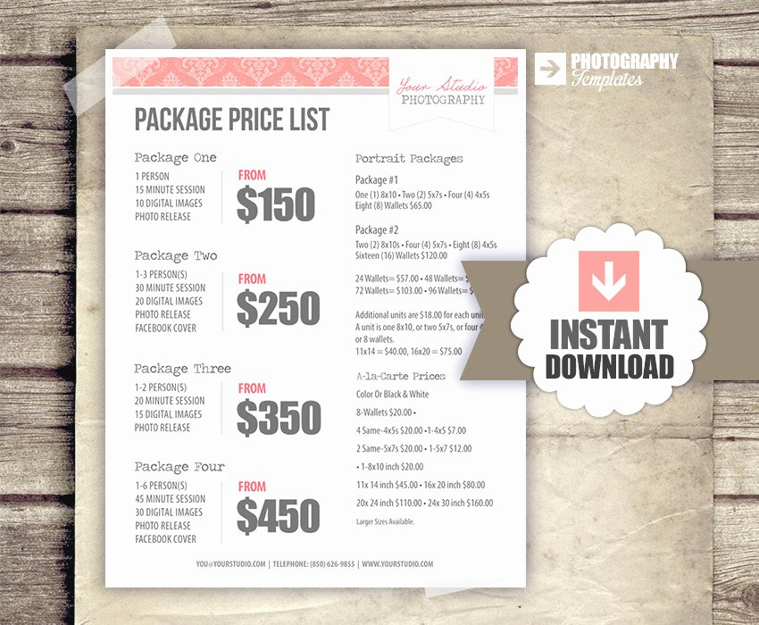 Free Photography Price List Template New Request A Custom order and Have something Made Just for You