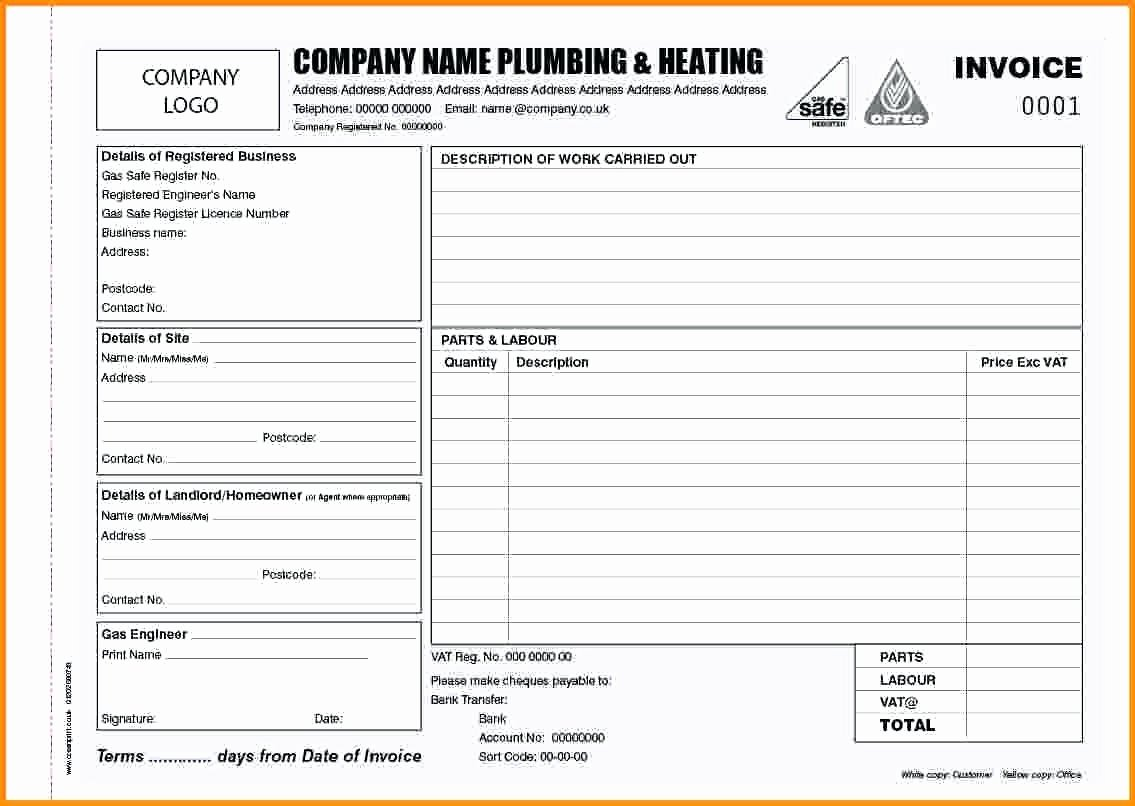 Free Plumbing Invoice Template Inspirational Free Plumbing Invoice Template Love Letter Template Word