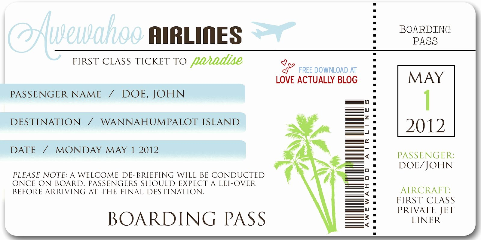 Free Printable Airline Ticket Template Awesome Ticket Boarding Pass Template Bing Images