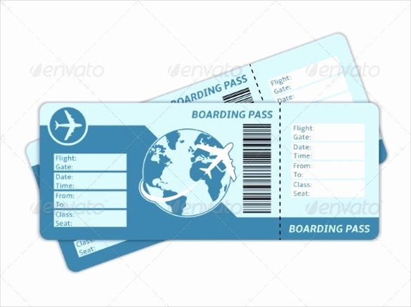 Free Printable Airline Ticket Template Beautiful 28 Blank Ticket Templates Psd Vector Eps Ai Word