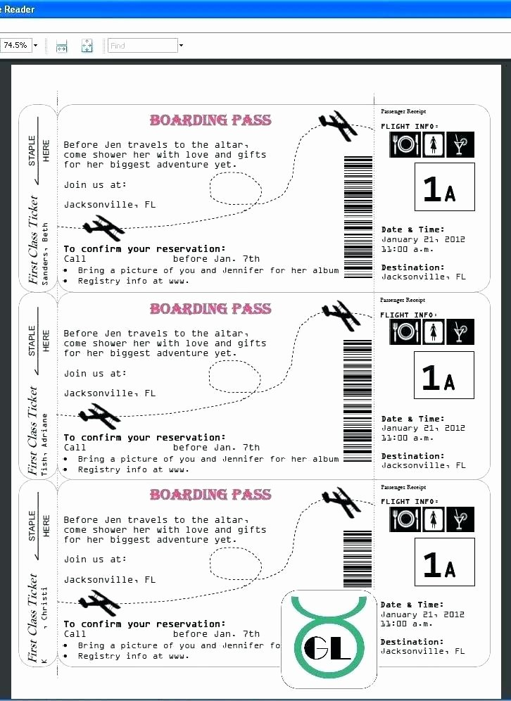 Free Printable Airline Ticket Template Beautiful Free Drink Ticket Template Word Tickets Admit E Blank