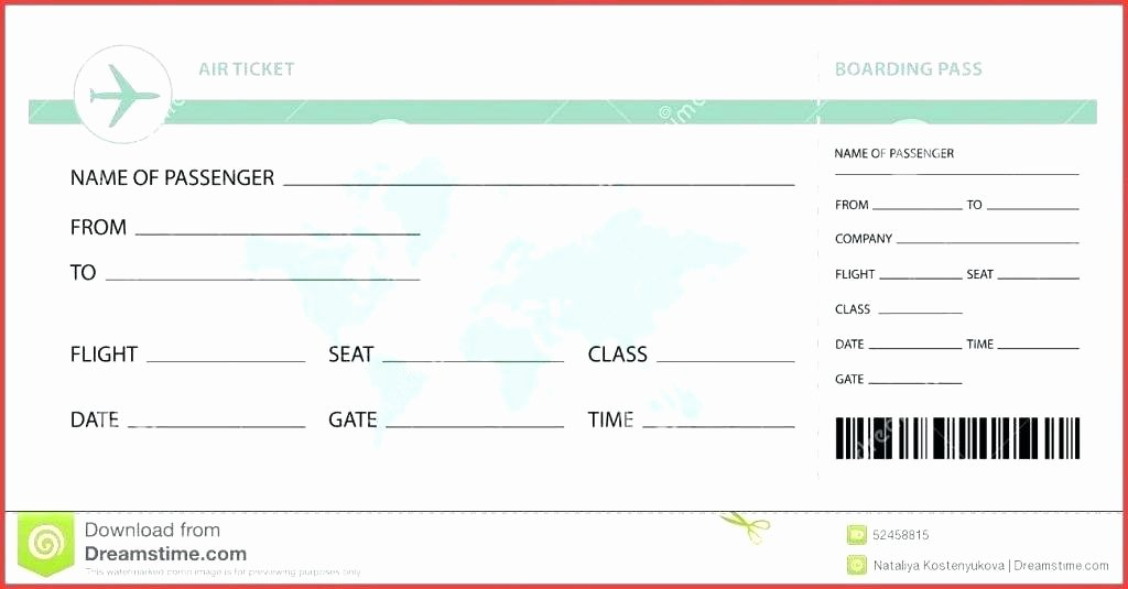 Free Printable Airline Ticket Template Best Of Fake Plane Ticket Template Mesmerizing Best Airline