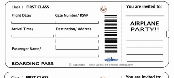 Free Printable Airline Ticket Template Best Of Free Printable Airline Ticket