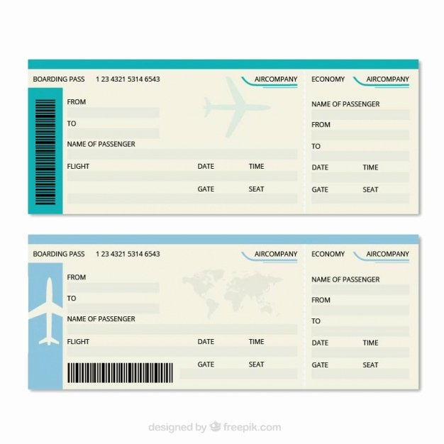 Free Printable Airline Ticket Template Best Of Great Boarding Pass Template Vector