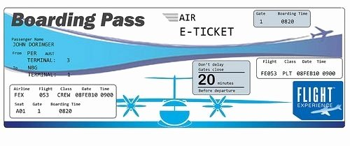 Free Printable Airline Ticket Template Best Of Plane Ticket Template Beepmunk