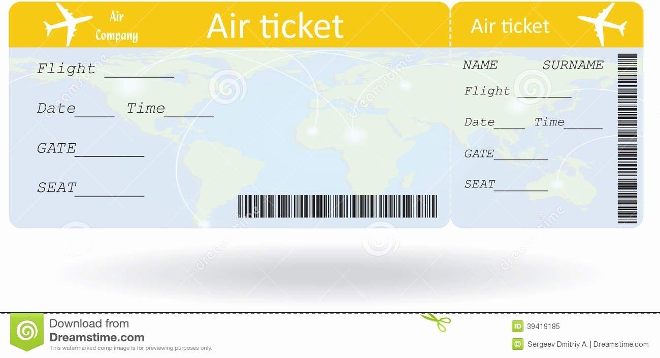 Free Printable Airline Ticket Template Elegant Plane Ticket Template Beepmunk