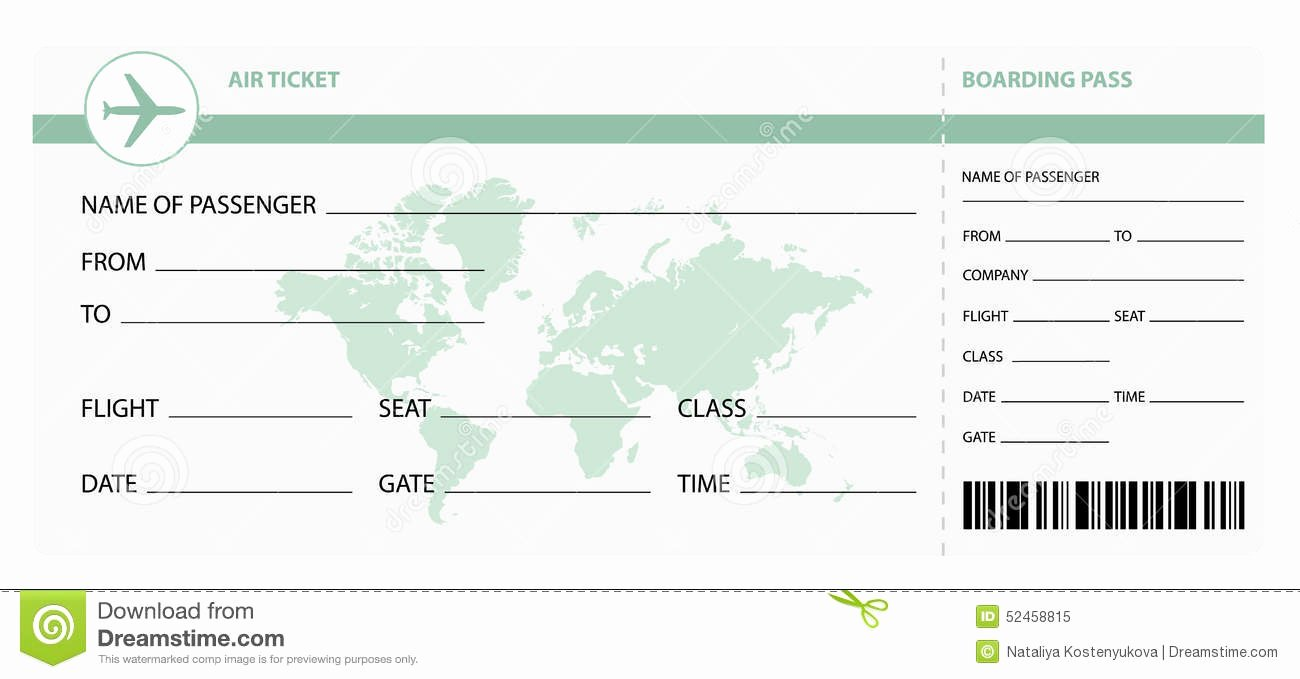 Free Printable Airline Ticket Template Fresh 28 Of Plane Ticket Template for Gift
