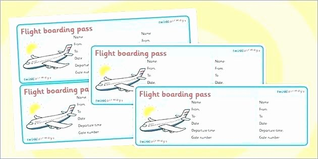 Free Printable Airline Ticket Template Fresh Airplane Boarding Pass Template Free Printable Plane