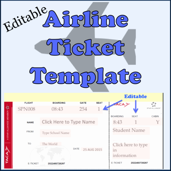 Free Printable Airline Ticket Template Fresh Editable Airline Ticket Template School Daze