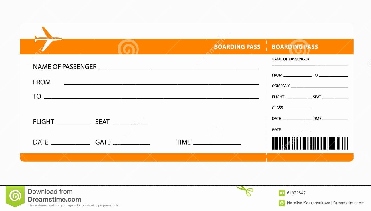 Free Printable Airline Ticket Template Inspirational Plane Ticket Template Beepmunk