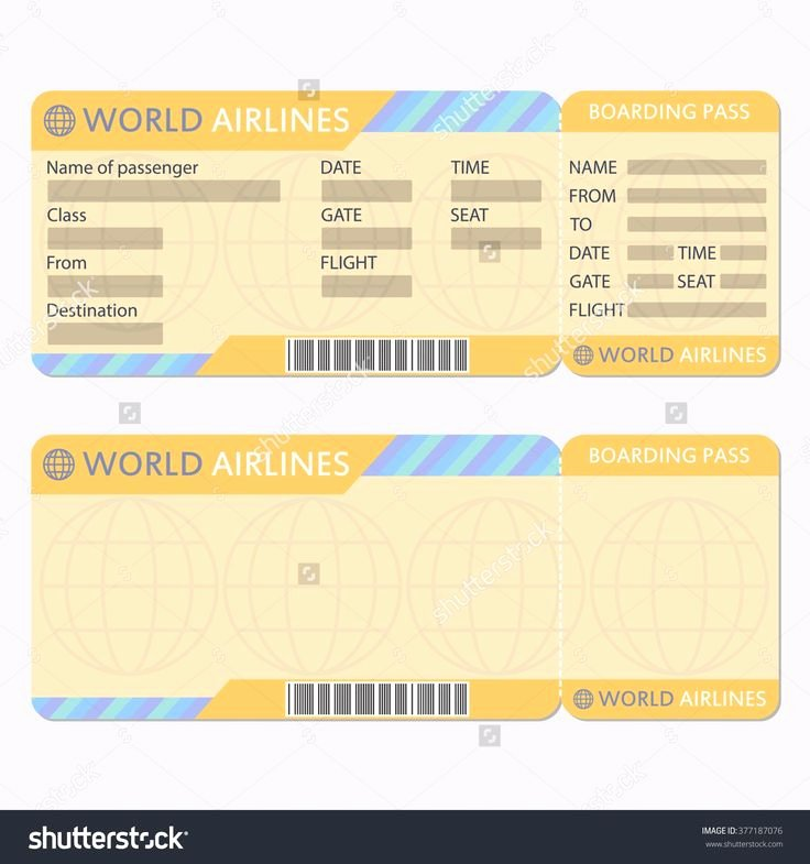 Free Printable Airline Ticket Template Lovely 25 Best Ideas About Ticket Template On Pinterest