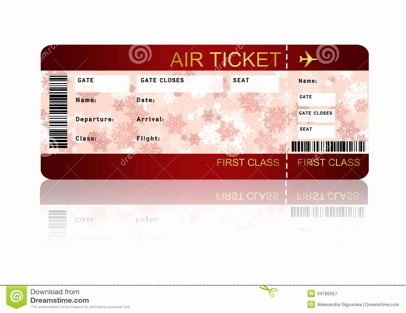 Free Printable Airline Ticket Template Lovely Blank Plane Ticket Clipart Clipart Suggest