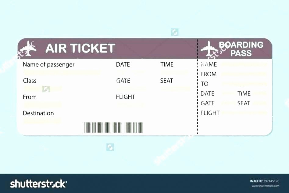 Free Printable Airline Ticket Template Lovely Free Printable Tickets Template Free Raffle Ticket