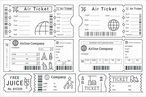 Free Printable Airline Ticket Template Lovely Plane Ticket Template Gift Download Boarding Pass Traveler