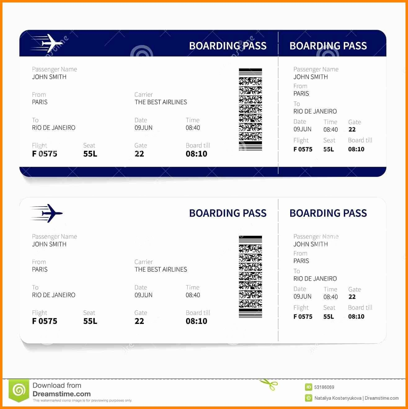 Free Printable Airline Ticket Template New 6 Fake Printable Tickets