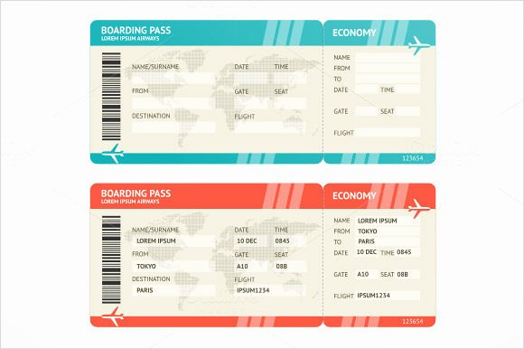 Free Printable Airline Ticket Template Unique Boarding Pass Template 9 Download Documents In Pdf