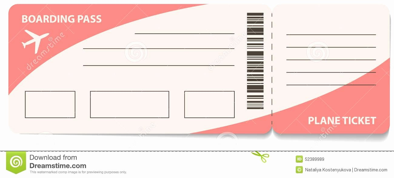 Free Printable Airline Ticket Template Unique Fake Airline Ticket Template Gallery Template Design