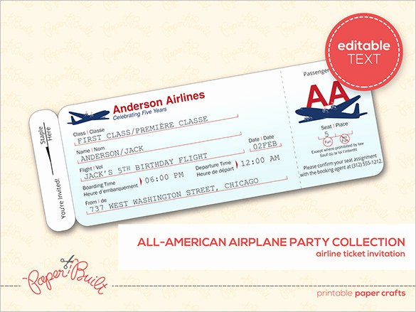 Free Printable Airline Ticket Template Unique Ticket Templates – 99 Free Word Excel Pdf Psd Eps