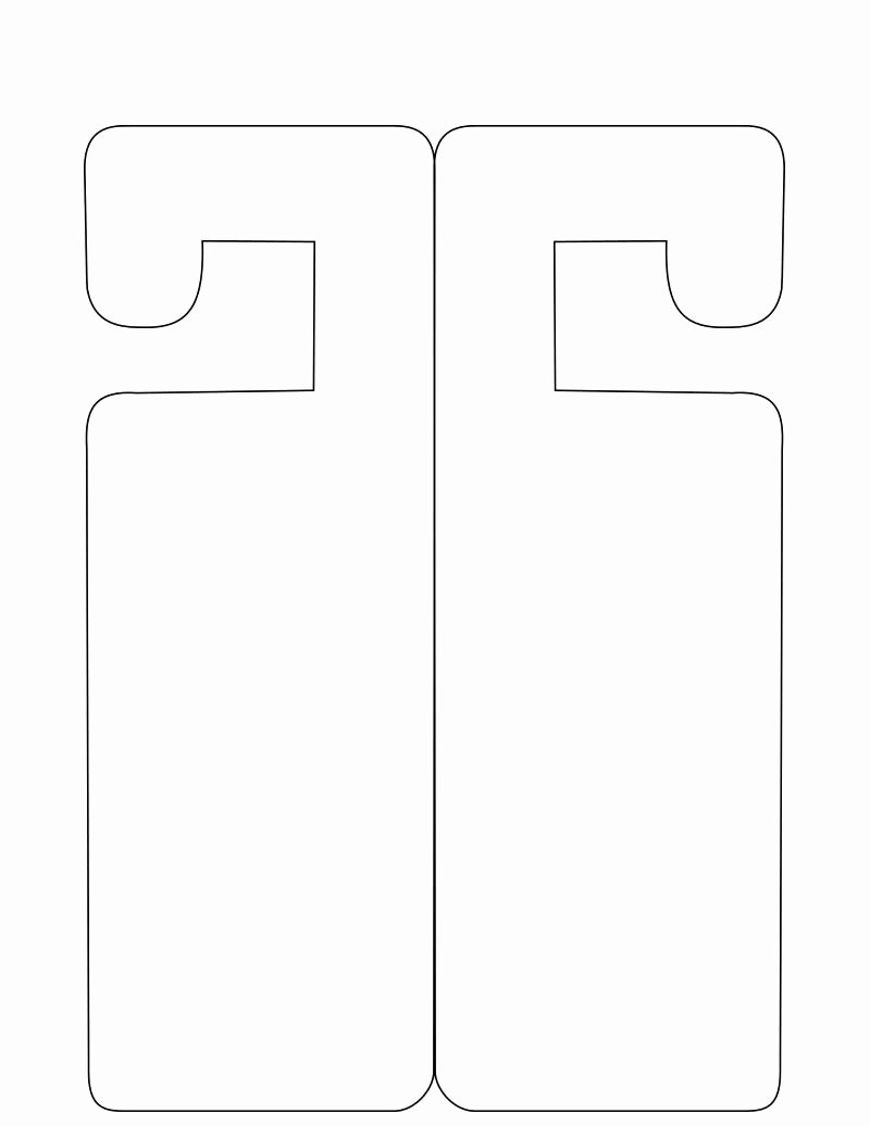 Free Printable Door Hanger Template Awesome Template Door Knob Sign Template