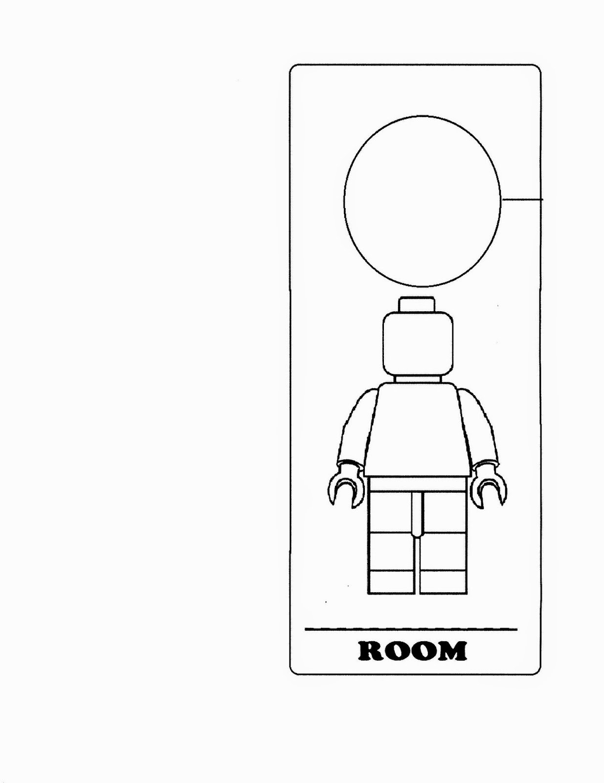 Free Printable Door Hanger Template Beautiful Lego Door Hanger Crafts with Cathy Thinking Out Loud