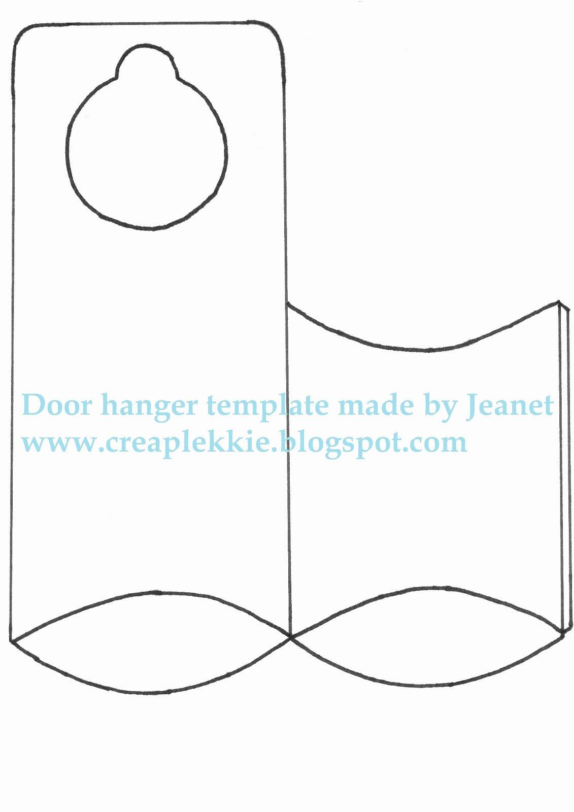 Free Printable Door Hanger Template Inspirational Door Hanger Template