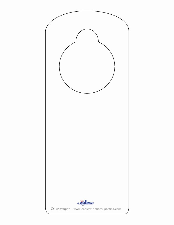 Free Printable Door Hanger Template Lovely Blank Printable Doorknob Hanger Template