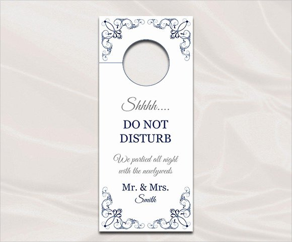 Free Printable Door Hanger Template Lovely Do Not Disturb Door Hanger Template Word Templates