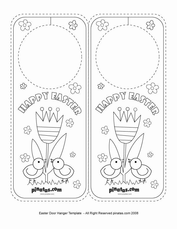 Free Printable Door Hanger Template Luxury Easter Party Crafts Easter Door Hanger Free Printable