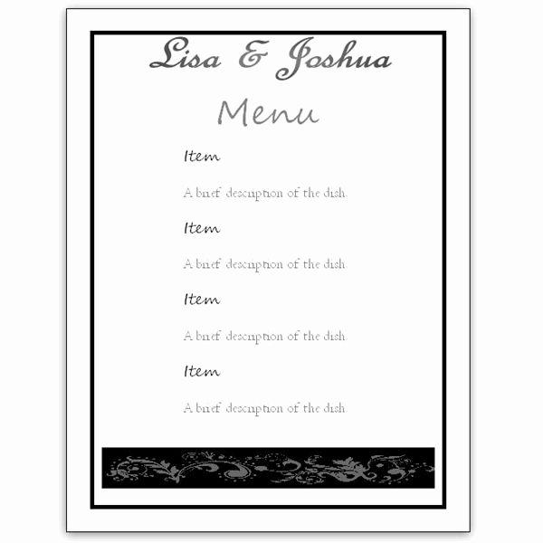 Free Printable Menu Card Template Awesome Download A Free Wedding Menu Card Template Diy and Save
