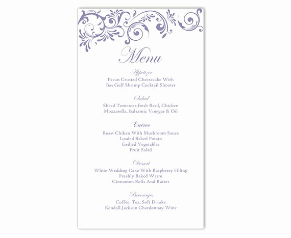 Free Printable Menu Card Template Awesome Wedding Menu Template Diy Menu Card Template Editable Text