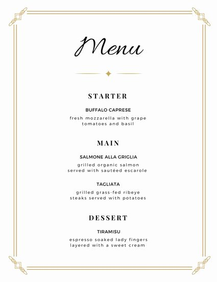 Free Printable Menu Card Template Beautiful Customize 273 Wedding Menu Templates Online Canva