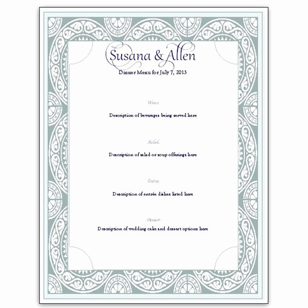 Free Printable Menu Card Template Beautiful Download A Free Wedding Menu Card Template Diy and Save