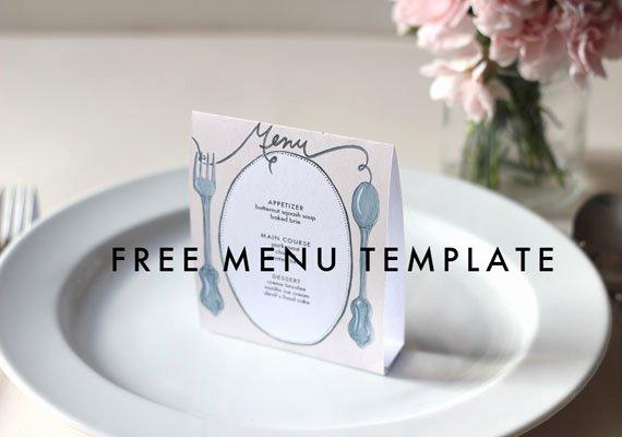Free Printable Menu Card Template Best Of Free Downloadable Diy Wedding Menus