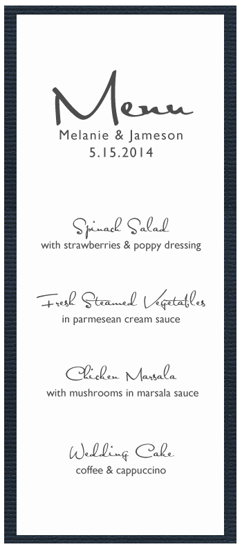 Free Printable Menu Card Template Elegant 5 Best Of Free Printable Menu Cards Free